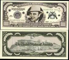 BILLET SCARFACE AL CAPONE - CENT MILLE DOLLAR !! Collection MAFIA US GANGSTER