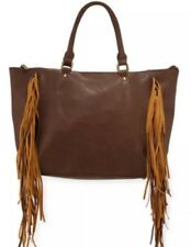 Urban Originals Leather Purse, Contrasting Fringe Tote Handbag, SUPER SALE
