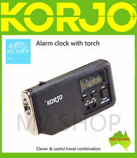 New Korjo  Alarm / Snooze Clock with Torch For Travel and Home --ACT22