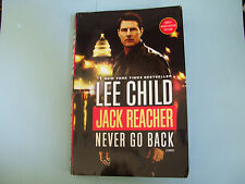 MOTION PICTURE BOOK ~ NEVER GO BACK: Jack Reacher by Lee Child ~ ACTION GoodCond