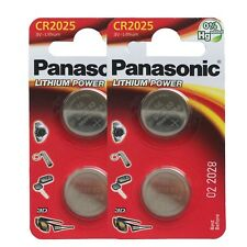 4 x Panasonic CR2025 DL2025 3V Lithium Coin Cell Battery Long Lasting !!