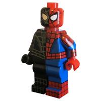 LEGO Custom PAD PRINTED Half & Half Spider-Man Minifigure Minifig LIMITED QTY
