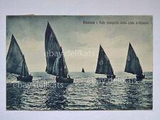 RICCIONE vele onde barca vela sailing boat Rimini vecchia cartolina