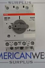 ABB M0 325  690V  12,5A  3 pole motor circuit breaker 10HP 3 phase din rail USED