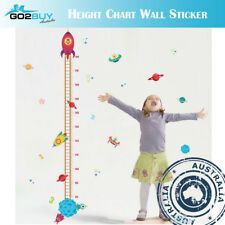 Wall Stickers Removable Rocket Planet Height Kids Nursery Decal Growth Chart