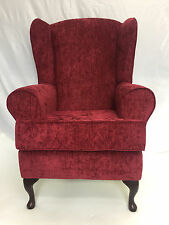 HIGH BACK DEEP SEAT FIRESIDE CHAIR IN RUBY
