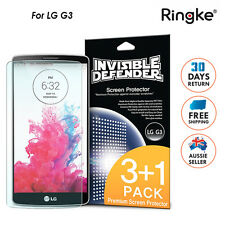 LG G3 Genuine Ringke Invisible defender clear Screen guard Film protector for LG