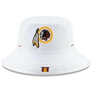 Washington Redskins Men's New Era 2019 Training White Bucket Hat