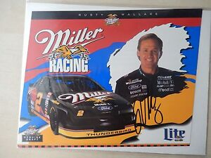 """Rusty Wallace Autographed 10"""" X 8"""" Photo Slick"""