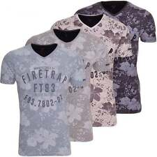 Firetrap V Neck Graphic Fitted T-Shirts for Men
