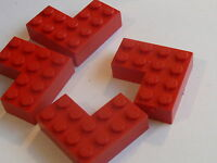 Lego 4 briques rouges en coin set 700.0 915 417 700k / 4 red corner bricks