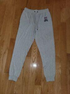 Psycho Bunny Men's Gray Cotton/Modal Lounge Jogger Pants Size M