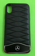 orig Mercedes Benz Rind leder Handy Hülle Case schwarz passend für iPhone ® X 10