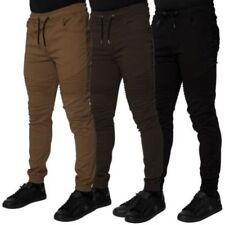 Pantalones de hombre chinos color principal negro 100% algodón