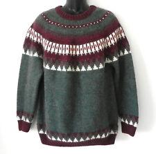 Fina Alpaca Peru Sweater Fisherman Style Multi-Color Size L