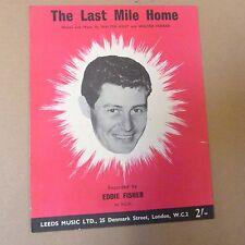 songsheet THE LAST MILE HOME Eddie Fisher 1949