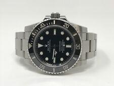 Rolex 114060 Submariner No Date Ceramic Bezel With Card