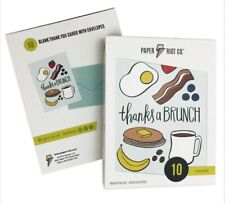 Thanks A Brunch Paper Riot 10 Count Blank Cards with Enevelopes
