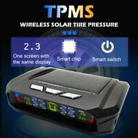 Wireless Solar Car TPMS Tire Tyre Pressure Monitor System + 4 External Sensors