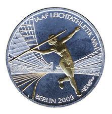 DEUTSCHLAND 10 Euro SILBER 2009 - LEICHTATHLETIK WM - G - GOLDAPPLIKATION