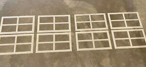 8 Amarr Stockton Decratrim Window Inserts Short Panel White Garage Door Trim