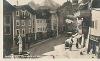 Ansichtskarte 1928 Berchtesgaden Marktplatz mit Watzmann beschrieben Zeitz Foto
