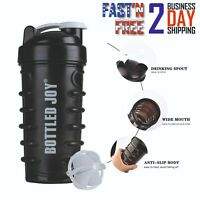 Protein Powder Shaker Bottle Cup  Workout Gym Protein Blender Mixer Ball Shake