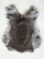 Champagne D'Argente rabbit fur pelt hide silver tipped Small S