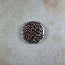 """Vintage Style Microphone  Photo Pinback Button  1""""  Astatic Crystal T3 1960's"""