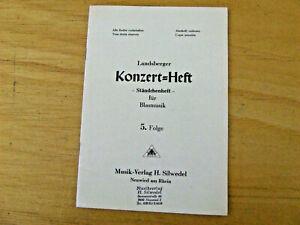 Landsberger Konzert-Heft - Ständchenheft - für Blasmusik 5. Folge Direktion