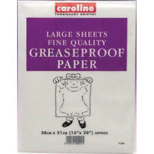 Large Waxed Greaseproof Grease Proof Parchment Paper Baking Rolling Sheets