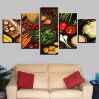 Healthy Fresh Vegetables Poster Food Wall Art Kitchen Decor 5pieces Canvas Print
