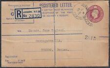 31217) LONDON 1950 Einschreiben Registered Letter nach Schweden