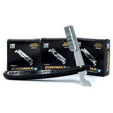 300 EUROMAX Single Edge Razor Blades,1 Turkish Cutthroat Razor Ustura