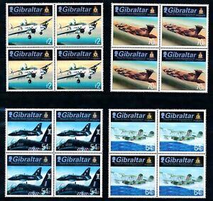 [TLC17] Giraltar 2014 - Michel 1644/47**, blocs de 4 aviation - superbe