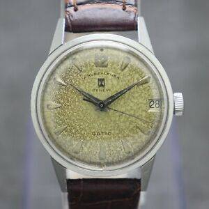 60's Favre Leuba Datic Tropical Dial Hand-Winding Cal. 112 Swiss Made Watch
