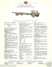 Truck Brochure - White - WC-16B - Safety School Bus Chassis - 1954 (TB539)