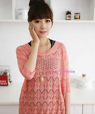 Japan Relaxed Dolman Sleeve Layering Soft Knit Sweater! PInk