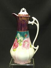 ANTIQUE RETSCH & Co of WUNSIEDEL HAND PAINTED PORCELAIN COFFEE POT c. 1899