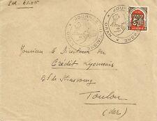 LETTRE JOURNEE DU TIMBRE  ORAN ALGERIE POUR TOULON VAR 1948