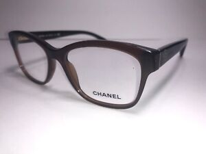CHANEL Eyeglass Frames 3255 c. 538 Brown Women Glass Flower Floral $599 Scratch