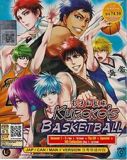KUROKO'S BASKETBALL 黒子のバスケ SEASON 1-3 VOL. 1-78 END JAPANESE ANIME DVD