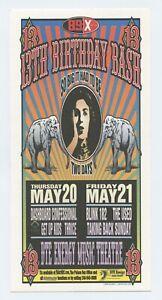 Dashboard Confessional Handbill w/ Blink 182 2004 May 20 Clarkston