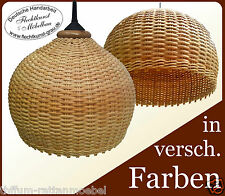 "Design Lampenschirm ""Kugel"" aus Rattan geflochten Hängelampenschirm Lampe"