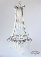 CTD Single Candle Holder Chandelier with Pearls, Set of 4, Wholesale
