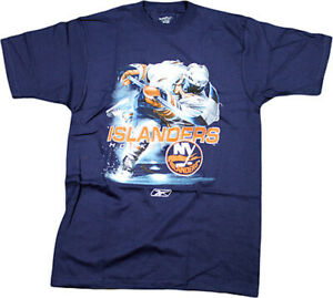 Reebok NHL Men's New York Islanders Hockey Player T-Shirt, Navy