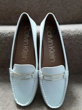 Ladies Calvin Klein Cream Loafers Size 6.5 Uk