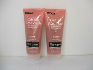 2 NEUTROGENA OIL FREE PINK GRAPEFRUIT ACNE WASH 6.7oz EACH - EXP: 2/22 JL 12514