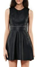 Spring Designer Lamb New Leather Women Dress Cocktail Stylish Party Wear  D-011