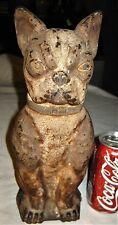 Antique Greenblatt Studios Arcade Boston Terrier Dog Cast Iron Statue Doorstop